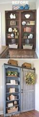 brilliant ideas of bookcase in distressed white and teal