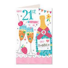 happy 21st birthday female lovely drinks bubbly design happy