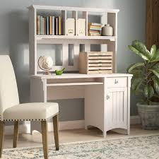 Wayfair Office Desk Lark Manor Ottman Computer Desk With Hutch Reviews Wayfair Stylish