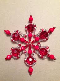 bead snowflake ornament bead jewerly snowflake