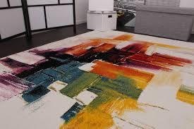 teppiche design teppich modern splash designer teppich bunt brush neu ovp grösse