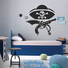 compare prices on pirate wall murals online shopping buy low pirates wall decal skull bones kids boys room vinyl wall sticker art home decoration removable wall
