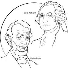 lincoln coloring pages a drawing of george washington for us presidents day coloring page