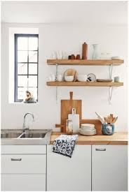 wall mounted wooden kitchen shelves open kitchen shelving
