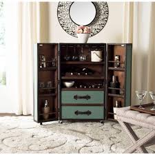 bar cabinets for home safavieh lexington wood barbinet in sage fox9511b the home depot