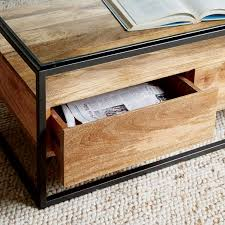Coffee Table Box Box Frame Storage Coffee Table West Elm