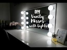 diy vanity mirror with lights 100 simplysandra