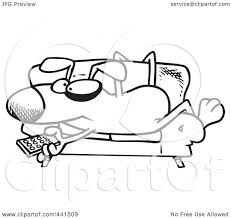 Couch Cartoon Royalty Free Rf Clip Art Illustration Of A Cartoon Black And