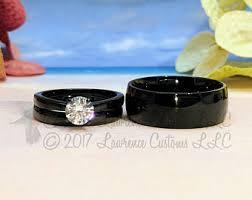 black wedding rings black wedding ring etsy