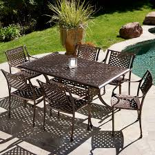 Patio Furniture 7 Piece Dining Set - tahoe 7 piece cast dining set