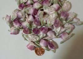 silk ribbon roses variegated silk ribbon roses white to lavender 100 count 25 ebay