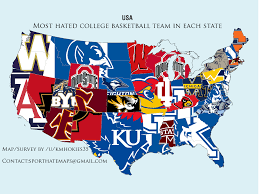 State College Map by Map Most Hated College Basketball Team In Every State Business