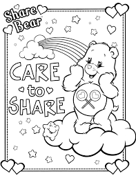 85 care bears images care bears coloring