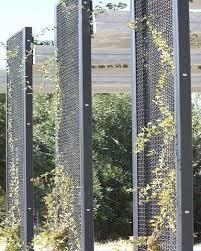 Trellis System Metal Garden Screen Trellis Mcnichols Eco Meshar Modular Faaade