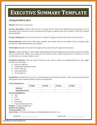 summary report template executive summary report template unique 11 executive report