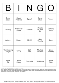 thanksgiving bingo cards to print and customize