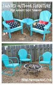 turquoise outdoor furniture