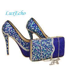 wedding shoes royal blue royal blue rhinestone wedding shoes and bags to match galosh para