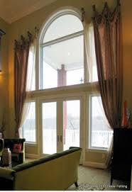 Curtain Ideas For Curved Windows Extra Long Window Curtains Home Pinterest Long Window
