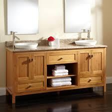 Bathroom Laminate Dark Wood Floor With Granite Double Sink Vanity - Bathroom vanities double sink wood