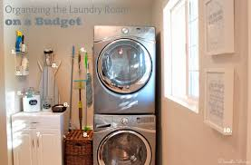 domestic charm organizing the laundry room on a budget