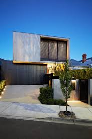 contemporary house entrance and garage layout architecture glugu