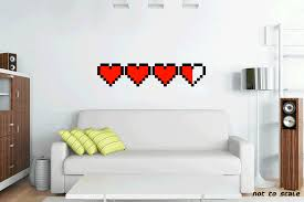 8 bit heart meter decal sticker gaming health bar nintendo 8 bit heart meter decal sticker gaming health bar nintendo zelda link 3 and a half full hearts find some health to find your love