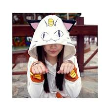 Charizard Pokemon Halloween Costume Pokemon Team Rocket Meowth Hoodie Cosplay Costume