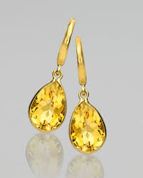 mcdonough citrine drop earrings eternal 18k gold citrine pear drop earrings pear drops 18k gold