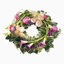 pink calla pink calla wreath selena s contemporary flowers