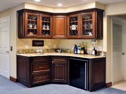 Kitchen Wet Bar Ideas Elegant Foyer Hutch And Corner Basement Wet Bar In English Country