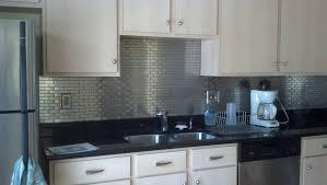 metal tiles for kitchen backsplash stainless steel subway tile kitchen backsplash amys office