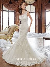 one shoulder wedding dress y21501 rory tolli wedding dress