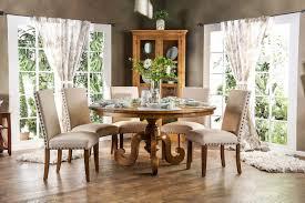 olinda cm3442rt round dining table in oak finish w options