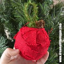 rustic burlap ornaments a bigger sugar bee crafts