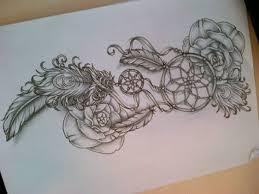 dream catcher tattoo sketch