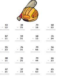 best ideas of free 2 digit subtraction worksheets in worksheet
