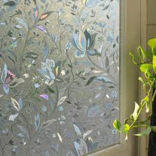 45x100cm frosted glass window sticker film privacy flower static