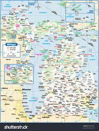 Saginaw Michigan Map by Michigan State Map Stock Vector 88089991 Shutterstock