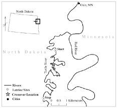 North Dakota rivers images Section of the turtle river in eastern north dakota where a river png
