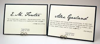 wedding quotes literature literary quotes book theme table number cards bellus designs
