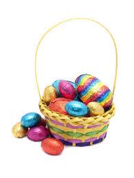 easter egg basket basket of easter eggs creative commons stock image