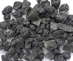 amazon com black lava rocks for gas fire pit 1 cu ft approx