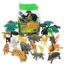 boley 40 piece bucket of safari animals assorted jungle animals