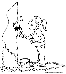 painter coloring pages wecoloringpage