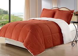 Down Alternative Comforter Sets Burnt Orange Borrego Blanket Down Alternative Comforter Set Twin