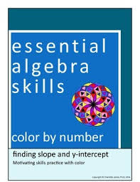finding slope and y intercept color by number standard form