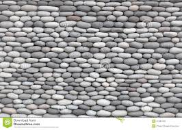 Smooth Wall Background Wall Decorated With Smooth Stones Stock Image Image