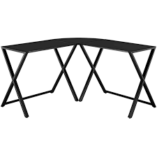L Shaped Black Glass Desk by Furniture Winsome Walker Edison Desk Fancy Walker Edison Glass Desk