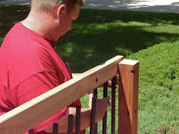 How To Build A Handrail On A Deck How To Build Custom Deck Railings How Tos Diy